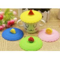 Food Grade Silicone Fresh Cover / Silicone Cup Cover Round Shape Diameter 10.5cm