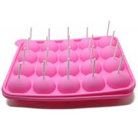 China 20 Holes Cake Lollipop Molds Silicone Ice Tray Lollipop Chocolate Mold on sale