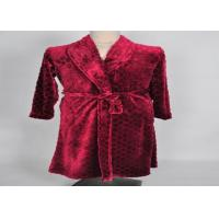 Quality Comfortable oval cut pattern flannel Fleece Bathrobes nightdress / nightshirt soft and warmer for sale