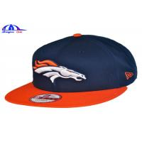 Quality 100% Cotton Custom Embroidered Baseball Caps / Baseball Fitted Hats 56 - 60 cm Size for sale