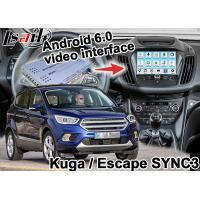 Quality Android 6.0 Navigation Box Video Interface For Ford Kuga Escape SYNC 3 With WIFI BT MirrorLink Map Google Service for sale