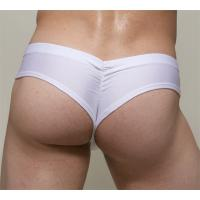 Buy White Green Seamless Cotton 95% and Spandex 5% Simple Sexy Mans Thong Underwear at wholesale prices