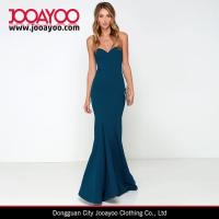 Quality Women Latest Dress Design Pure Color Strapless Bodycon Maxi Cocktail / Prom Dress for sale