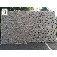 Quality UVG 8ft high pink realistic fake roses wedding flower wall backdrops for photography for sale