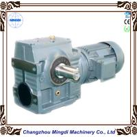 Quality Mingdi Solid / Hollow Shaft Helical Worm Reduction Gearbox With AC Motor for sale