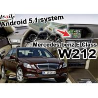 Quality Android 5.1 GPS Car Multimedia Navigation System For Mercede benz E class W212 for sale