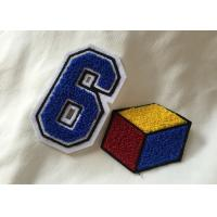 Personalized Embroidered Number Patches , Iron On Embroidered Letter Patches