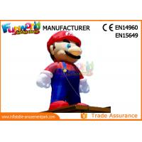 Quality PVC Coated Nylon 3 - 8m Advertising Inflatables Mario Model / Inflatable Cartoon Characters for sale