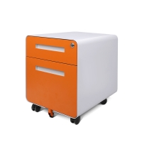 Quality Anti Tilt Round Edge 2 drawer mobile pedestal file With Moveable Castor for sale