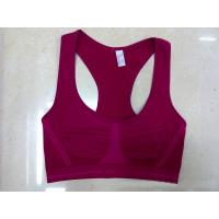 Quality Nylon / Cotton Breathable Wirelesss 38H Eco-Friendly Customized Front Closure Sports Bra for sale