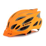 Orange Adult Bicycle Helmets Polycarbonate Shell Humanized Adjustable Fastener
