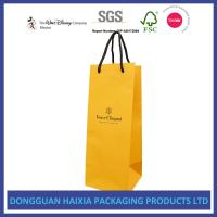 China Custom Logo Printing Kraft Paper Shopping Bags Soft Packaging For Red Wine on sale