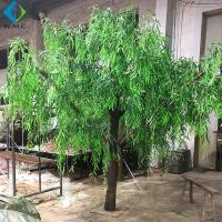 Dense Faux Weeping Willow , Green Willow Tree For Greenery Landscape for sale