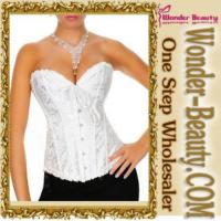 Quality White Sexy Steel Boned Corset for sale