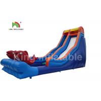 Buy cheap 10m High Giant Red Fish Inflatable Water Slide With Staircase For Children from wholesalers