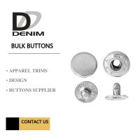 Quality Silver Metal Snap Buttons Nickel - Free Embossed Logo For Brand Clothing for sale