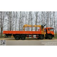 China DRZ 8x4 dongfeng lorry truck mounted crane 8T-12T  telescopic boom cell:8615271357675 on sale
