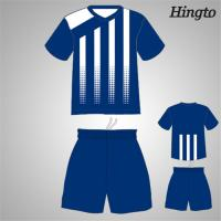 China Professional Blue Youth Soccer Team Jerseys Quick Drying Moisture on sale