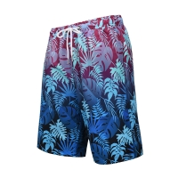 Quality Quick Drying Discoloration Leaves Pattern XL 52 SUP Board Shorts for sale