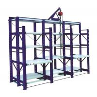 China Safety Warehouse Shelving Rack 4 Layers Push Back Pallet Racking on sale