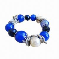 Quality Beaded Bracelet with Silver Plating  for sale