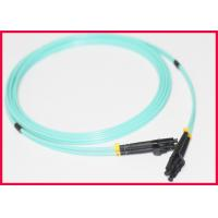 Quality Multimode OM3 Fiber Optic Patch Cables With Multi Colors LC Duplex Connector for sale