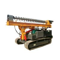 China Ground Screw Helical Construction Pile Drilling Machine With 4105 Turbocharged Engine on sale