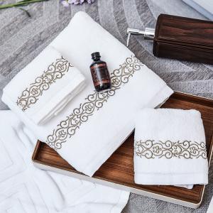 China Spa Hotel Towel Set 100% Cotton Custom Logo Dobby Plain Rectangular Stable on sale
