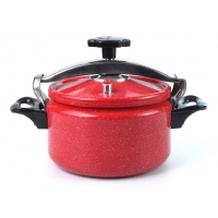 China Red Sanded Interior 3.6mm 11L Aluminium Pressure Cooker on sale