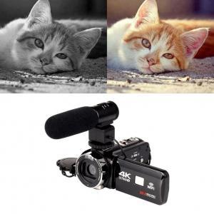 China Digital Mini DV Camcorder 4K ABS Black Video Cam 16X Digital Zoom CMOS 12MP Sensor on sale