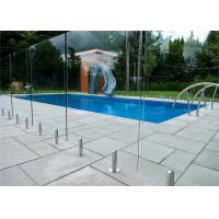 Quality Mirror / Satin Finish Swimming Pool Glass Fence Stainless Steel Spigot Railing for sale