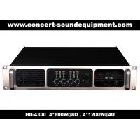 Buy cheap Analog Audio Amplifier/ 4 Channel 4*800W Class H Analogue Amplifier For Fixed Installations product