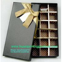 Quality Brown Chocolate Boxes with Ribbon for sale