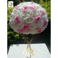 Quality UVG various sizes half roses and hydrangea flower balls for wedding table centerpieces decoration FRS02 for sale