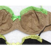 Buy Printed Convertible Comfortable 32A - 40D Seamless Cotton Mesh OEM Womens Underwear Bras at wholesale prices