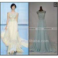 Quality Surmount Real Pictures Elie Saab Sleeveless Beaded Flowing Chiffon Evening Dresses For Sale for sale