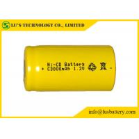 Quality Customized Color NICD Nickel Cadmium Rechargeable Battery 1.2V C3000mah for sale