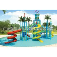 Quality Water Fun Park Kids Water Playground With Fiberglass Spiral Water Slide for sale