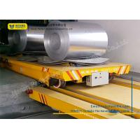 China Towed Cable Powered Coil Transfer Trolley Customized Color For Metal Sheet on sale