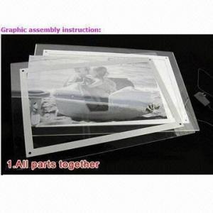 Quality Fashionable Acrylic LED Light Panels/Frame/Box, Ultra-bright LED for sale
