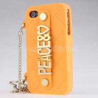 Quality PEACE Handbag With Chain Hold Silicone Case For iPhone 4 4s for sale