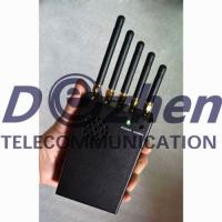Buy cheap 3W Handheld Pocket Mobile Phone Jammer , Gps Tracker Blocker With Cooling Fan from wholesalers