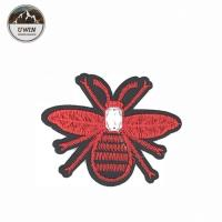 Quality 8 * 6.5CM Size Bee Embroidered Patch , Bumble Bee Patch Various Designs for sale