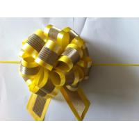 Quality Plastic Star Pom Pom Ribbon Bow For Holiday Decoration / Glitter Present Bows for sale