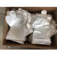China Embossed Disposable Gloves Polyethylene For Medical Checking / Food Handling on sale