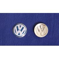 China high quality VW car emblem in printing color with concaved mould on sale