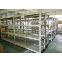 China Blue Or White Color Light Duty Metal Shelving Warehouse Storage Racks 4 Layers on sale