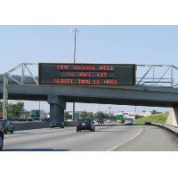 Quality High Resolution VMS / Gas LED Highway Signs Galvanized Steel Sheets 80kg for sale