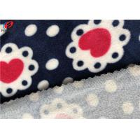 Quality Brushed Printed Velvet Velour Fabric 95% Polyester 5% Spandex For Baby Blanket for sale