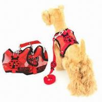 Quality Red Ladybird Fashion Harness and Leash, Made of Natural Fabric Breathes for sale